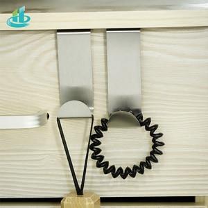 Image 2 - 2PCS Multipurpose Stainless Steel Door Hook For Kitchen Bathroom Cabinet Clothes Towel  Home Storage Hanger Hooks Holder