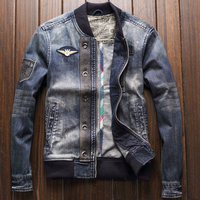 American Style Flight Men's Denim Jackets and Coats Spring Plus Size XXXL Mens Overcoats Outerwear Mens Brand Clothing 2020 A208
