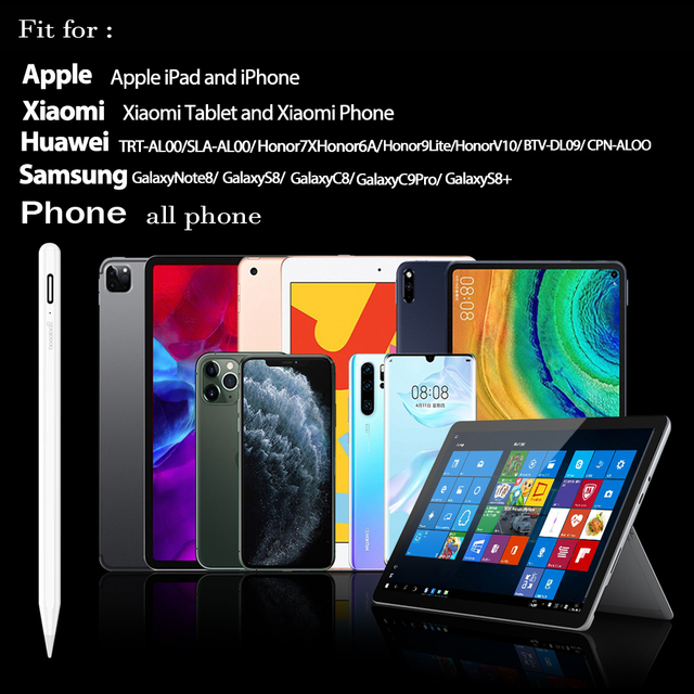 For iPad Pencil Stylus Pen for Apple Pencil 1 2 Touch Pen for Tablet IOS Android Stylus Pen for iPad Xiaomi Huawei Pencil Phone 5