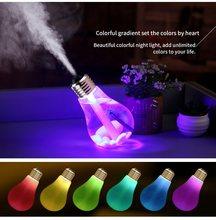 KBAYBO 400ML USB Luftbefeuchter Home Office Mini Aroma Diffuser LED Sterlingsilber-stille Licht Aromatherapie Nebel Maker Kreative Flasche birn
