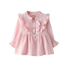Shirt Baby Stand-Up Tops Spring Collar Girls Long-Sleeved Children New for P4050 Wooden