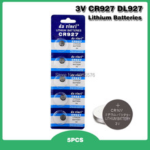 5 peças 927 dl927 br927 BR927-1W CR927-1W 3 v cr927 bateria de lítio controle remoto relógio de pulso da pilha da moeda substituir