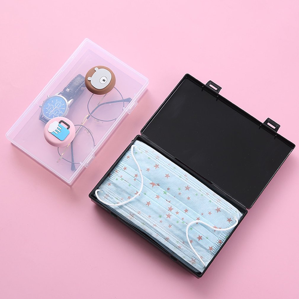 Dustproof Mask Case Portable Disposable Face Masks Container Pollution-Free Disposable Mask Storage Box Storage Organizer