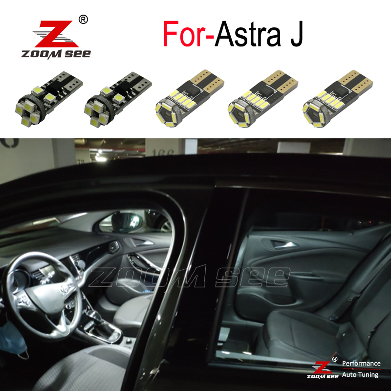 9pcs <font><b>LED</b></font> bulb Interior reading Light Kit for Opel Accessories for Vauxhall <font><b>Astra</b></font> <font><b>J</b></font> OPC GTC Sports Tourer Hatchback (2009-2015) image