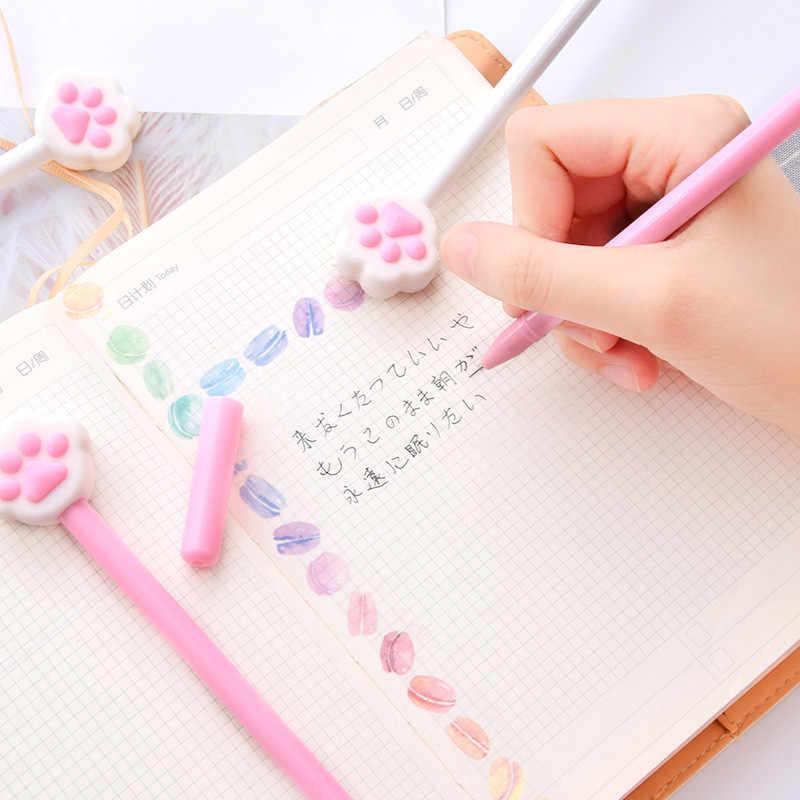 1 قطعة Kawaii شارب مخالب هلام القلم 0.35 مللي متر لطيف الحيوانات ماجيك أقلام Kawaii هلام أقلام المدرسة الكتابة الجدة القرطاسية الفتيات الهدايا