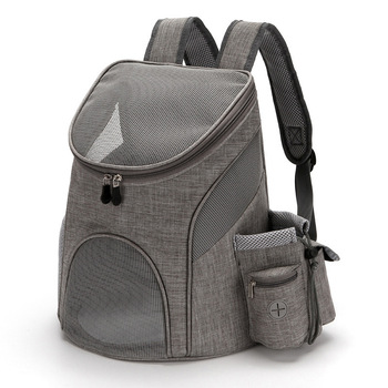 Foldable Pet Carrying Bag in Backpack Design with Wide and Strong Straps to Carry Puppies and Kittens