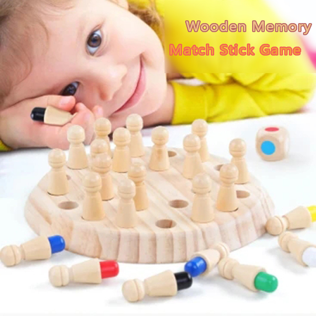 Kids Wooden Memory Match Stick Chess Game Intelligence IQ Brain Teaser Fun Block Board Game Educational Ability Toy For Children Party Games    - AliExpress