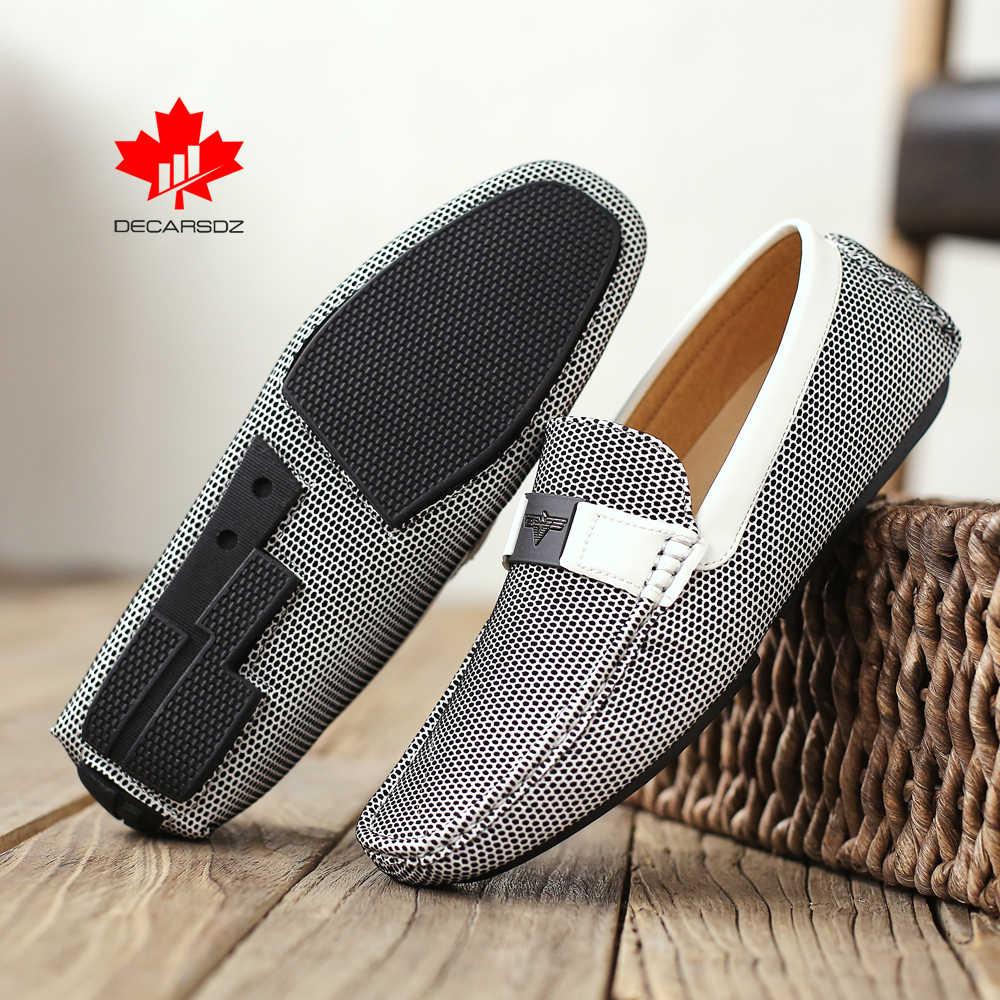 2020 erkekler loafer ayakkabılar erkek moda tasarım tekne ayakkabı rahat yeni erkek ayakkabıları erkek marka Moccasins Slip-On gündelik erkek ayakkabısı
