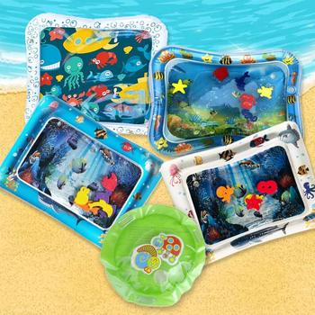 Water Mat Baby Inflatable Patted Pad Baby Inflatable Water Cushion Infant Play Mat Toddler Funny Pat Pad Toys Baby Toys Games