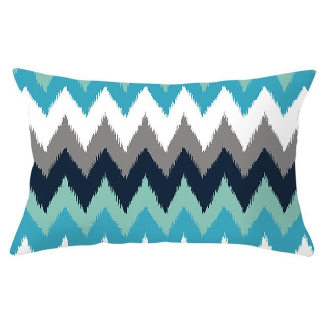 Geometric Patterned Rectangular Cushion Cover 4