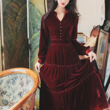Новая модная женская одежда осенне-зимние платья Элегантное платье