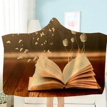 Книга/бабочка мультфильм с капюшоном Одеяло художественное зачатие
