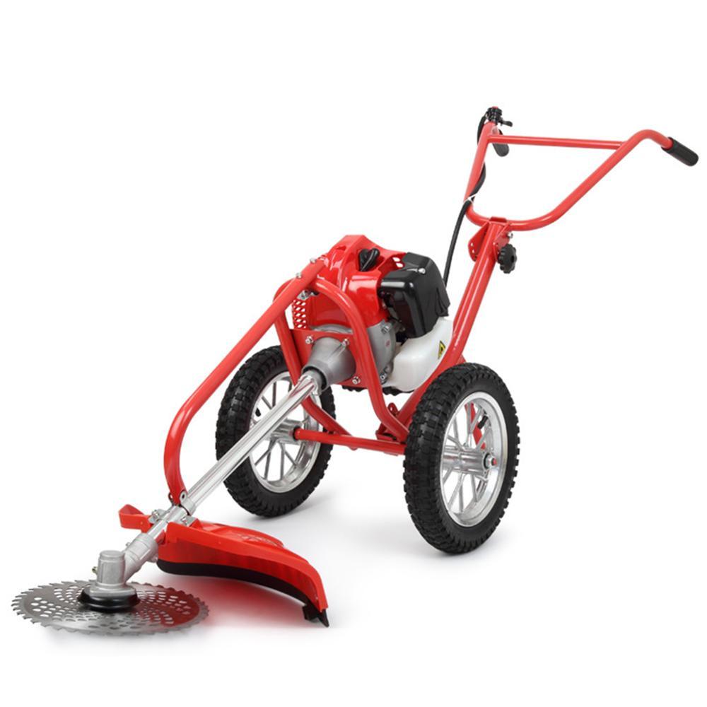 Household Lawn Mower Lightweight Hand Push Type Grass Cutter High Power Rake Scraper Scarifier Cropper Lawn Mower