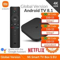 [CÓDIGO:-€8,MAYES8]Xiaomi-Dispositivo de TV inteligente MiBox S, versión global, 4K HDR, Android TV, reproductor multimedia y asistente de Google, con control remoto