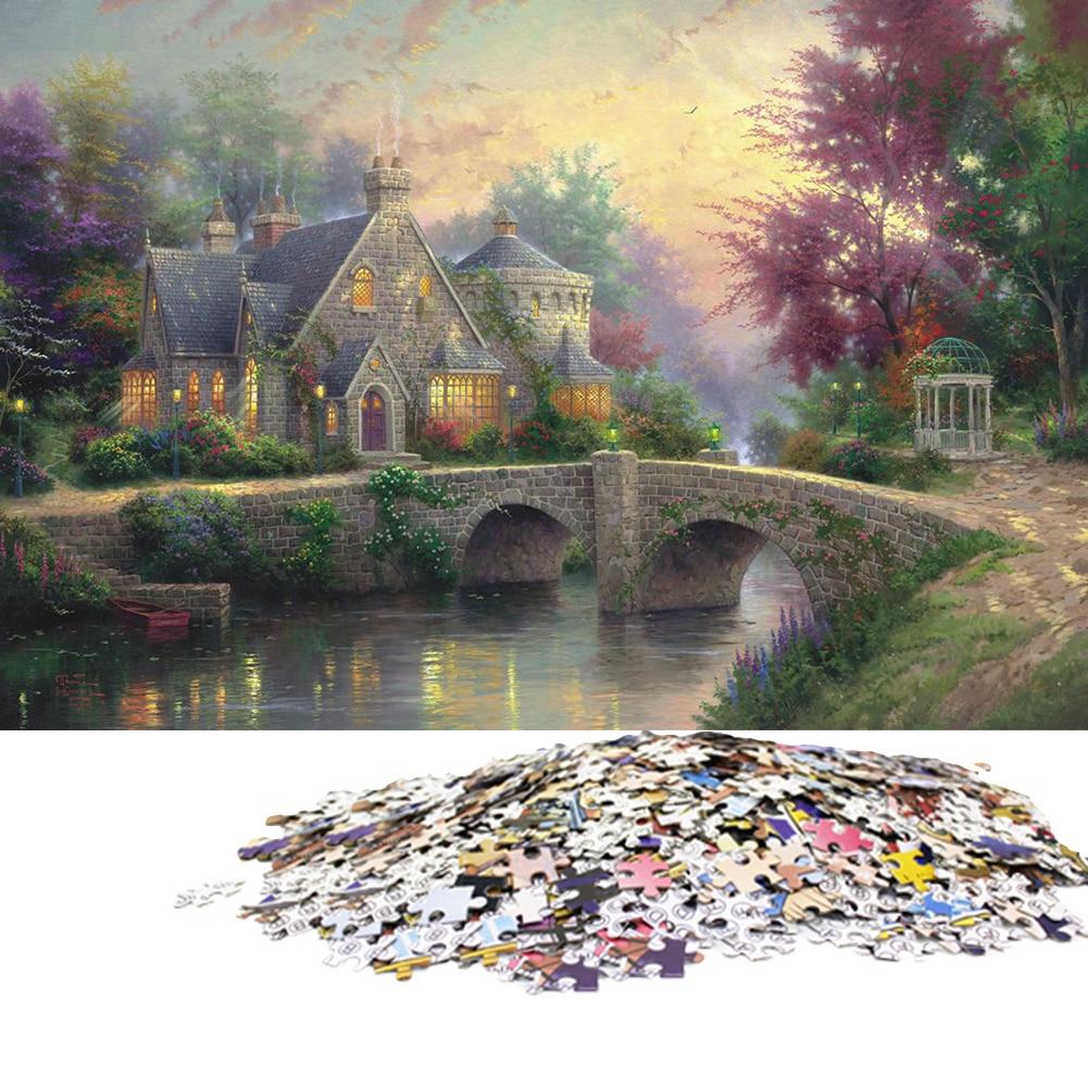 1000 Pieces Adult Puzzles Difficult Noctilucent Growups Puzzle Landscape Style