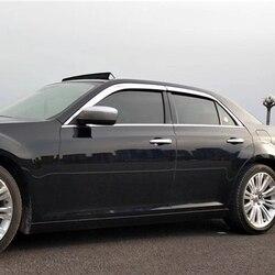Uso para Chrysler 300c visor de ventana 2011-2019 año de chapado lado sol protección contra la lluvia escudo carrocería exterior kit ACCESORIOS 4 Uds