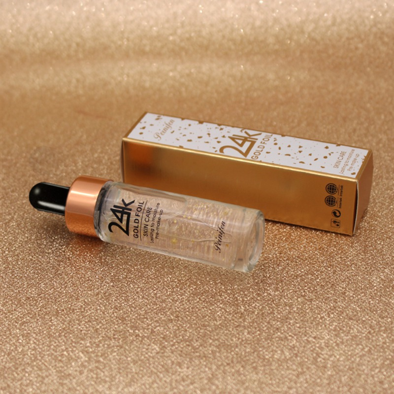 Face Blur Primer Make Up Base 24K Gold Foil Professional Firming Skin Makeup Full Oil Control