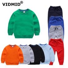 VIDMID/однотонная Одежда для маленьких мальчиков; Детский свитер; штаны; одежда; детская хлопковая одежда для мальчиков и девочек; 7060