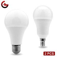 2 pçs/lote Lâmpada LED E27 E14 20W 18W 15W 12W 9W 6W 3W Lampada LEVOU Luz AC 220V Bombilla Iluminação Spotlight Frio/Branco Quente Lâmpada