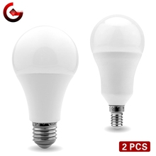 2pcs/lot LED Bulb E27 E14 20W 18W 15W 12W 9W 6W 3W Lampada LED Light AC 220V Bombilla Spotlight Lighting Cold/Warm White Lamp