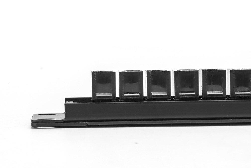19 дюймов 1U шкафа проходной 24 Порты и разъёмы CAT6 патч Панель RJ45 сетевой кабель-переходник ввод/вывод Keystone Jack модульный распределительный шкаф