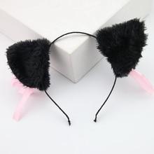 Hair-Accessories Headwear Christmas-Costume Ears for Women Female Ladies Long Fur Party