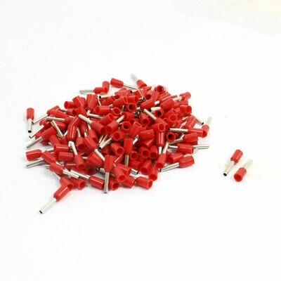 190 шт. E1008, красные предварительно изолированные зажимные клеммы для кабеля 18AWG