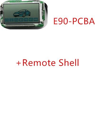 E90 LCD Remote Control Key Fob Chain for Russian version Two Way Car Burglar Alarm System Twage Starline E90