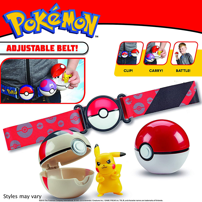 Genuine New Original Pokemon Toys Pokeball with <font><b>Belt</b></font> Action Figure Model Toy Retractable <font><b>Belts</b></font> Gifts for Children Kids In Box image