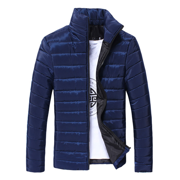 Winter Jacket Men  New Cotton Padded Thick Jackets Parka Slim Fit Long Sleeve Quilted Outerwear Clothing Warm Coats