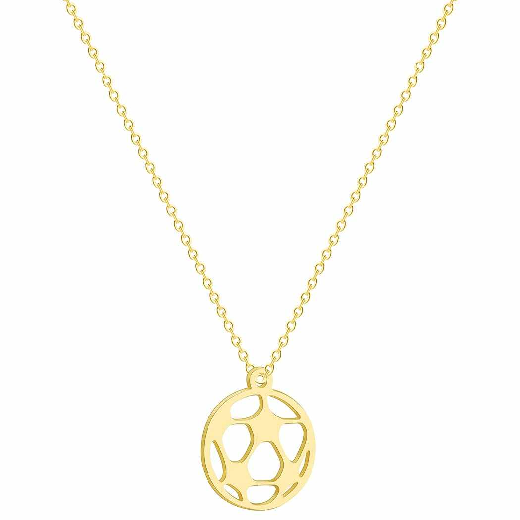 Collares para mujeres voleibol baloncesto fútbol colgante collar 3 colores oro y Rosa Color oro y plata joyería de moda