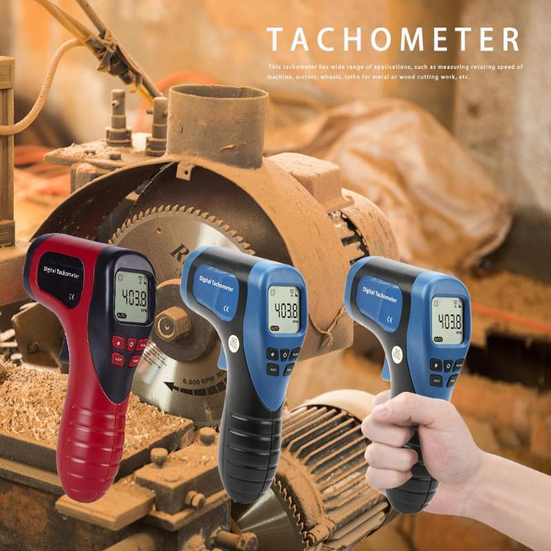 Image 3 - TL 900 Non contact Laser Digital Tachometer Speed Measuring Instruments Mearsuring Gun Automatic  Measure Digital Tachometer-in Speed Measuring Instruments from Tools