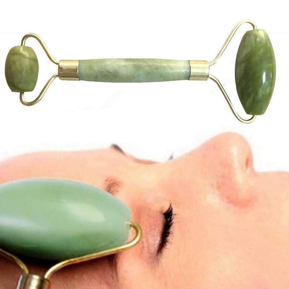 Ngọc Bích tự nhiên Mặt Massage Đá Thạch Anh Hồng Con Lăn Giảm Béo Con Lăn Máy Mát Xa Mặt Nâng Massage Da Dụng Cụ cho Chăm Sóc Sắc Đẹp