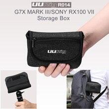 Uurig r014 방수 저장 가방 범용 휴대용 상자 운반 케이스 핸드백 g7x 마크 iii 소니 rx100 vii 카메라 액세서리