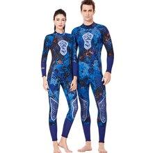 New Men/women 3mm Diving Neoprene Wetsuit Long Sleeve Rear zipper Keep warm Couple diving suit Swimming Surf Scuba Equipment bonverano men s 3mm neoprene warm long sleeves wetsuit one pieces zipper diving suit in camouflage