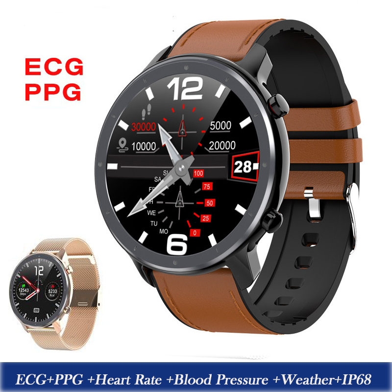 2020 L11 Smart Watch Men ECG+PPG Heart Rate Blood Pressure Monitor IP68 Waterproof Weather Smartwatch Watches