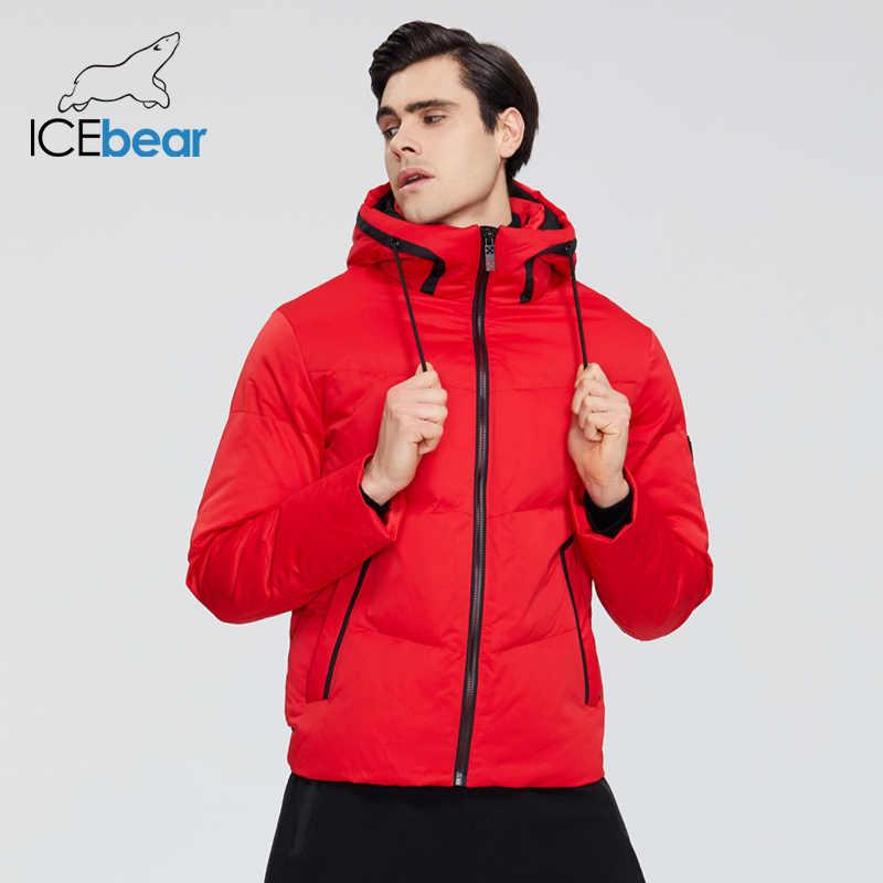 Icebear 2019 novo inverno grosso quente jaqueta masculina elegante casual casaco roupas de marca mwd19617i