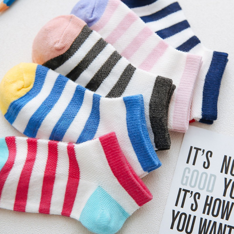 Stripe Kids 5 Pair=10PCS/lot  Socks Winter Comfortable Breathable Cotton Fashion Baby Socks Toddler Girls For 1-12 Year