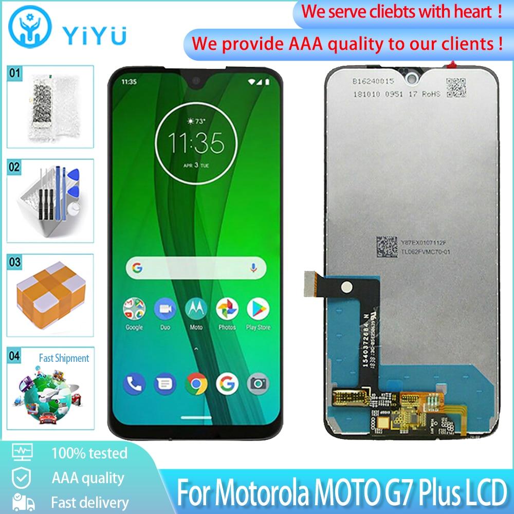ЖК-дисплей с сенсорным экраном и дигитайзером в сборе для Motorola MOTO G7 или G7 Plus, 100% протестирован
