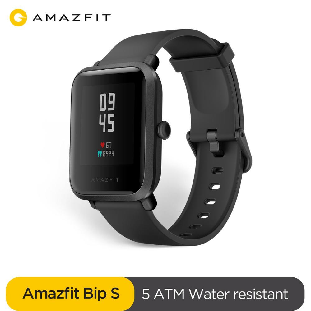 New Amazfit Bip S Global Version Smartwatch 5ATM Waterproof GPS GLONASS Bluetooth Smart Watch for android IOS Phone 1