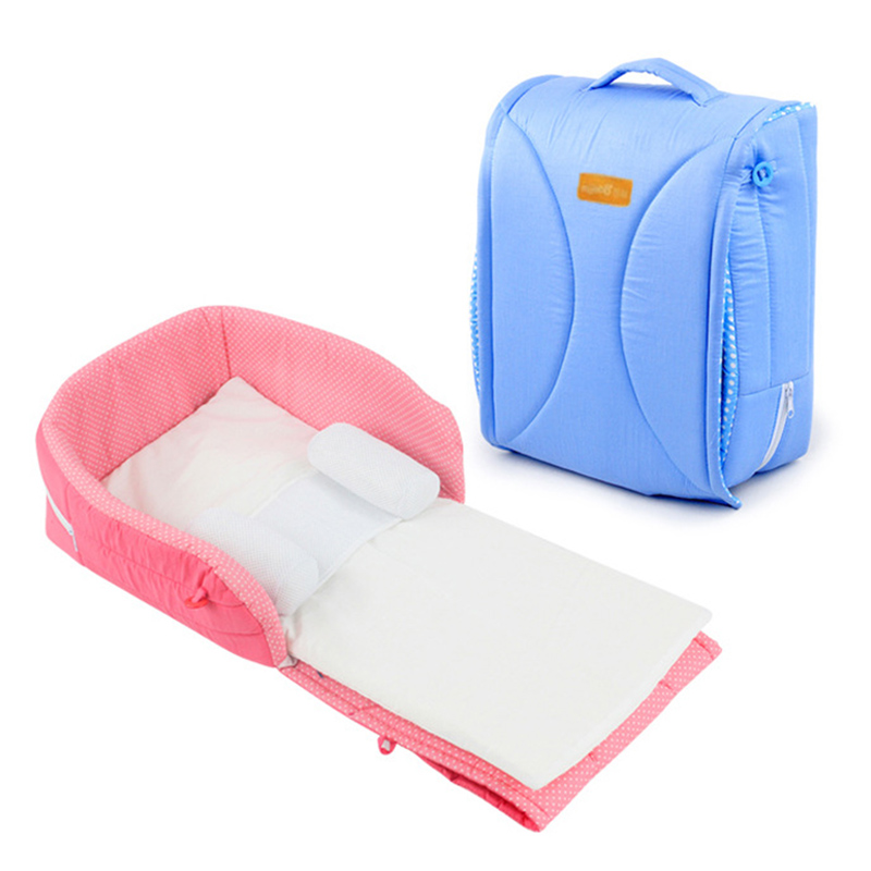 Portable Baby Crib Infant Bed In Bed Baby Sleeping Bed Foldable Travel Toddler Crib For Newborn Removable And Washable Bed Nest