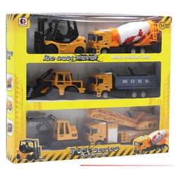6Pcs/Set 1:50 Alloy Diecast Engineering Toy Vehicle Children Gift Metal Car Set Truck Forklift Excavator Mixer Tractor kids Toys