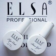ELSA, 15 мл, основа для ногтей и верхнее покрытие, УФ-светодиодный, замачиваемый сверху и базовый гель для ногтей, долговечный лак для ногтей, лак, Праймер, гель для маникюра