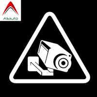 Aliauto pegatina de advertencia para coche cámara de vídeo CCTV vigilancia signo de vinilo accesorios PVC para Peugeot 308 Kia Rio 14cm * 12cm