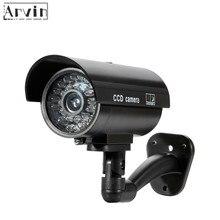 Telecamera per esterni Cctv di sorveglianza con telecamera fittizia impermeabile con LED lampeggianti per interni
