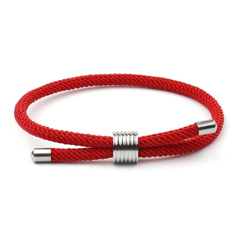 Trendy Red Thread Bracelet For Men Women Adjustable Lucky Braslet For Lovers Minimalist Umbrella Rope Braclet Pulseira Bileklik