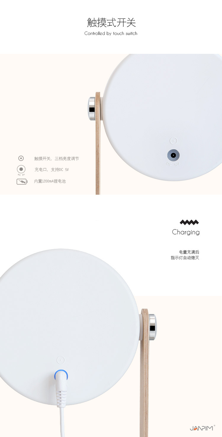 He45f906166e54bc68cbd6d691eff81deD - Creative Foldable Lantern Table Lamp Portable USB Charger Touch Switch Eye Protect Lamp Desk LED Reading Study Bedroom Lights