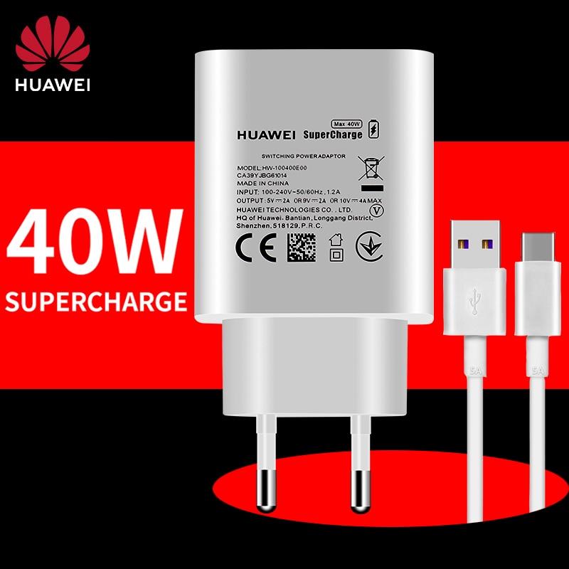 Huawei Aufzurüsten 40 w 40 w Super Schnelle Ladung Ladegerät 5A USB C Kabel für Taube 40 30 30e Pro 20 X P30 P40 Nova 7 SE Nova 5 pro