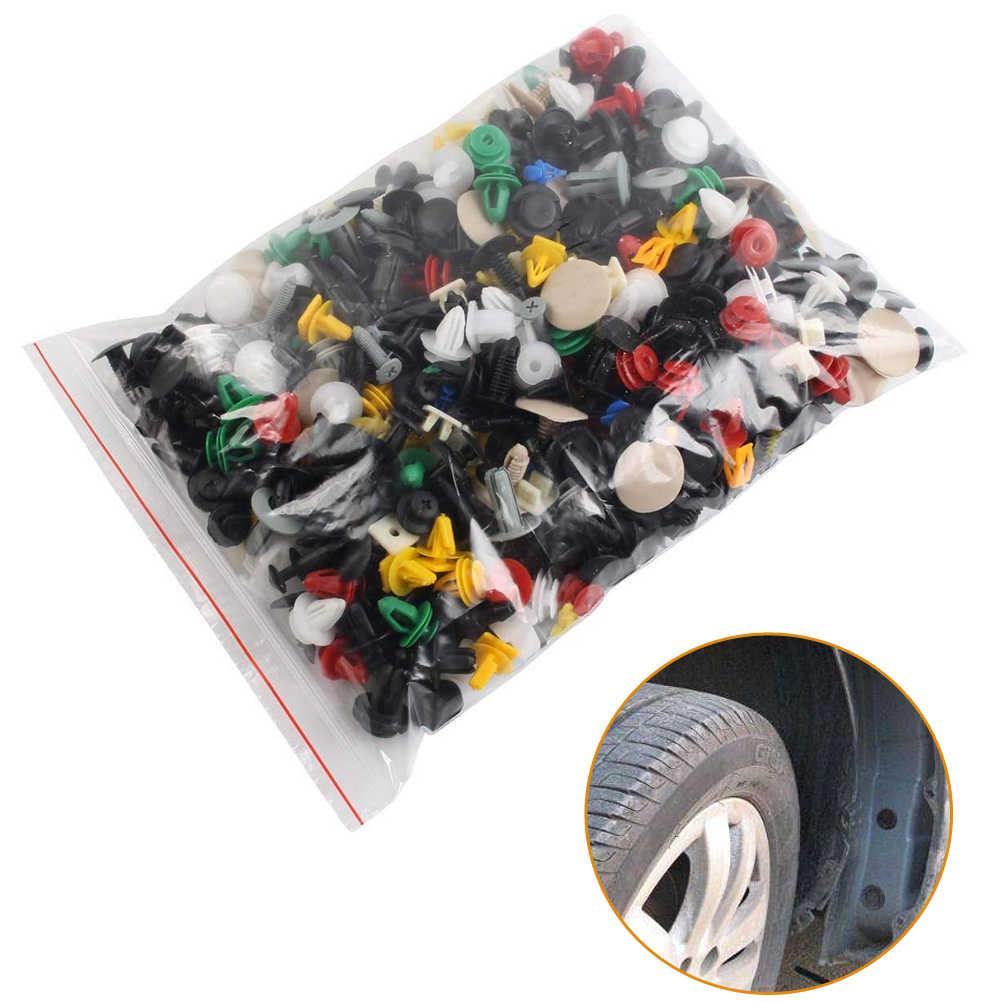 Evrensel karışık oto Fastener araba tampon klipleri tutucu araba Fastener perçin kapı paneli astar tüm araba için