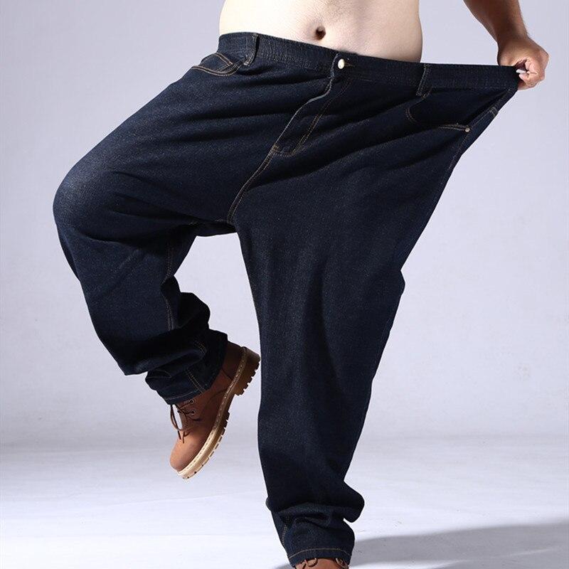 Winter Jeans Men Straight Thick Pants Super Large Mens Jean Designed Specifically For 140 Kg To 200 Kg Denim Mens Plus Size 8XL